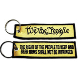 Embroidered Key Tag We The People - Choose Color