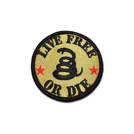Embroidered Morale Patch - Live Free Or Die - Choose Color