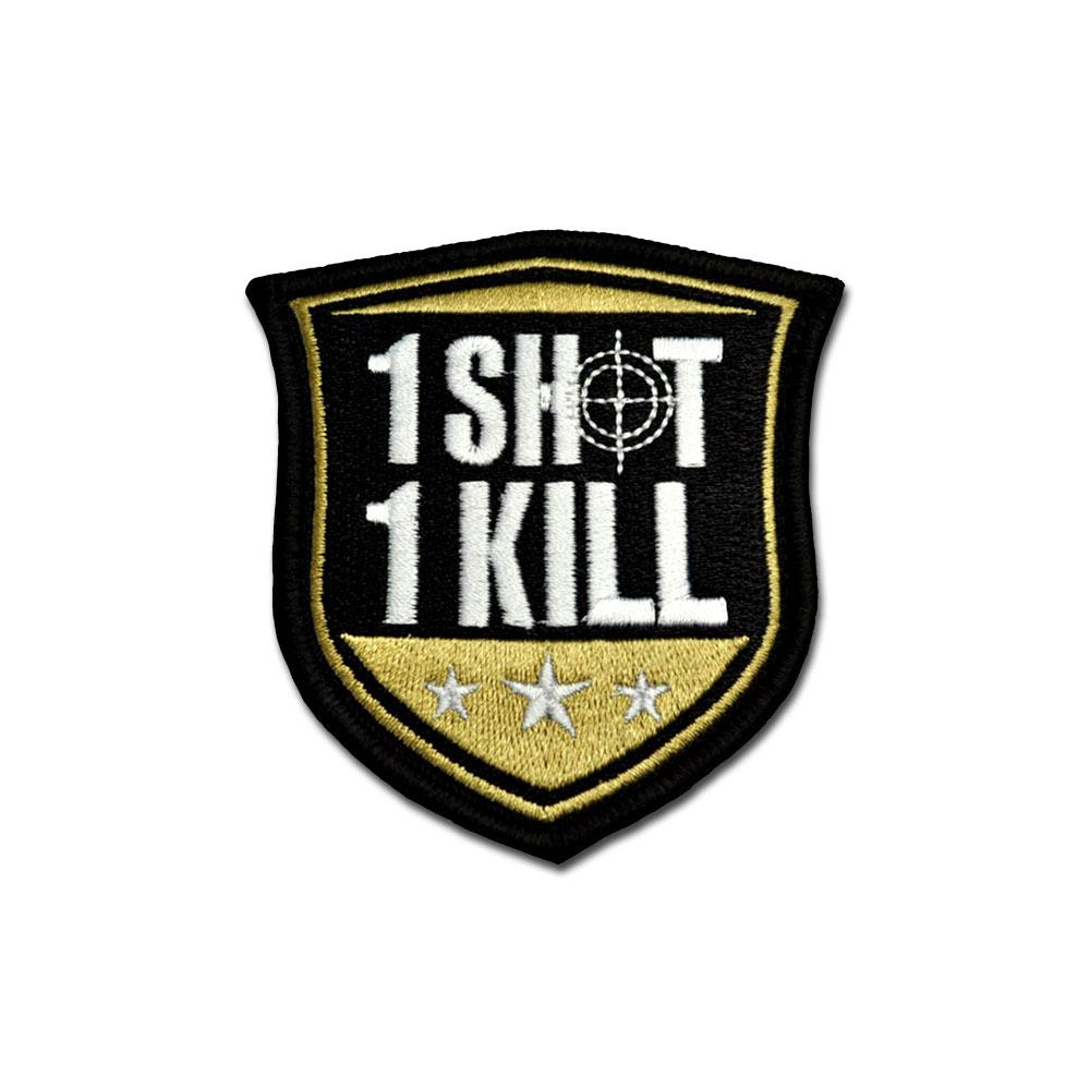 1 Shot 1 Kill - Choose Color - Embroidered Morale Patch