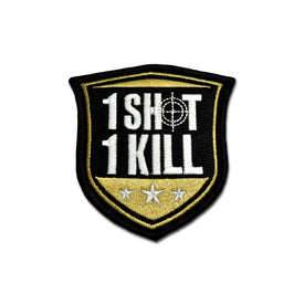 Embroidered Morale Patch - 1 Shot 1 Kill Choose Color