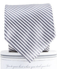 Striped Tie in Wolf Grey - Noa & Vivi Kids Apparel