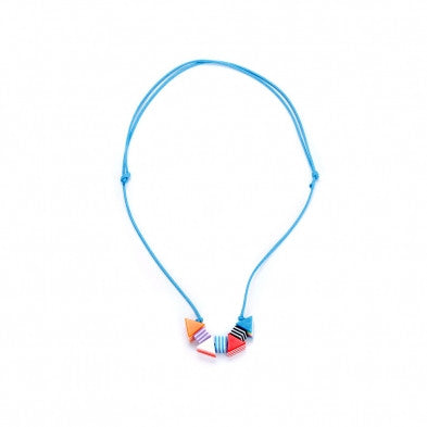 Striped Shapes Necklace - Noa & Vivi Kids Apparel