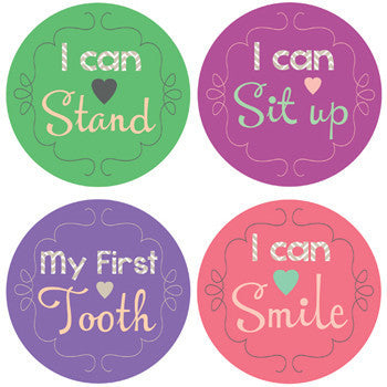 Little Achiever Girl Milestone Stickers - Noa & Vivi Kids Apparel