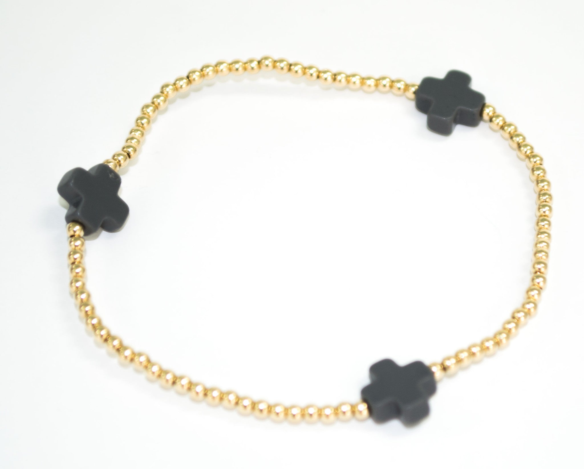 Signature Cross Bracelet in Charcoal - Noa & Vivi Kids Apparel