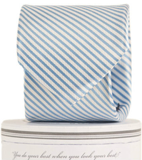 Carolina Blue Striped Tie - Noa & Vivi Kids Apparel