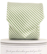 Green Striped Tie - Noa & Vivi Kids Apparel