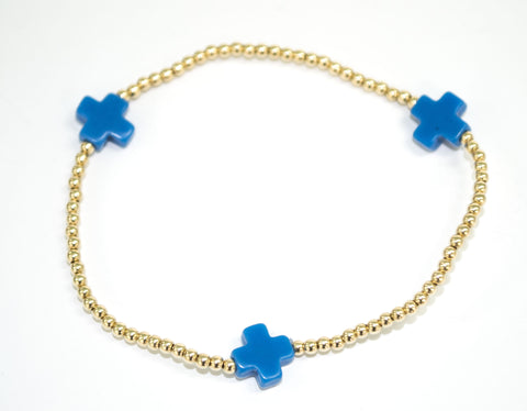 Signature Cross Bracelet in Blue - Noa & Vivi Kids Apparel