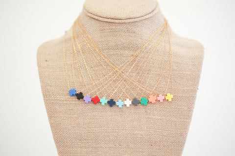 Signature Cross Necklace in Blue - Noa & Vivi Kids Apparel