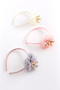 Puffy Tiara Headband Ivory - Noa & Vivi Kids Apparel