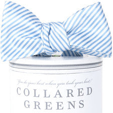 Carolina Blue Stripes Bow Tie - Noa & Vivi Kids Apparel
