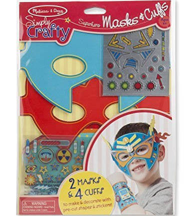 Simply Crafty Superhero Masks & Cuffs - Noa & Vivi Kids Apparel