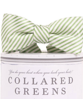 Collared Greens bow tie - Noa & Vivi Kids Apparel