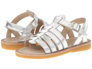 LAST ONE!!! Capri Sandal Silver|Size Youth 1 - Noa & Vivi Kids Apparel