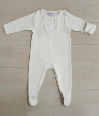 Footie Romper with Fold Over Mitt - Noa & Vivi Kids Apparel