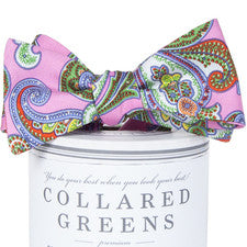 Collared Greens|Wood Pink Bow Tie - Noa & Vivi Kids Apparel