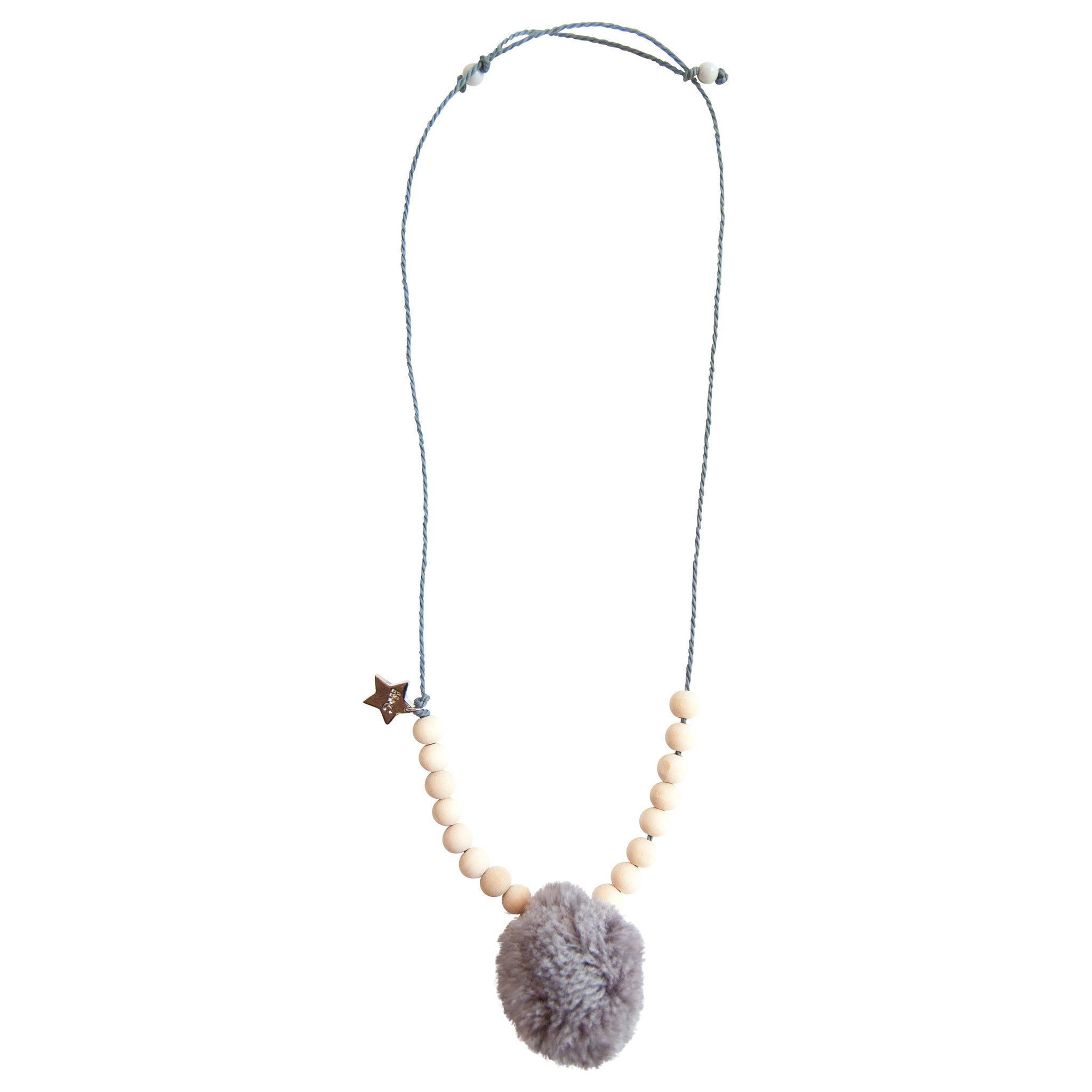 Pepita Pom Necklace in Cloud - Noa & Vivi Kids Apparel