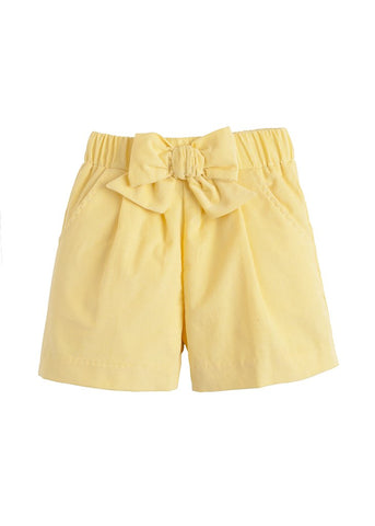 Bow Short in Buttercup - Noa & Vivi Kids Apparel