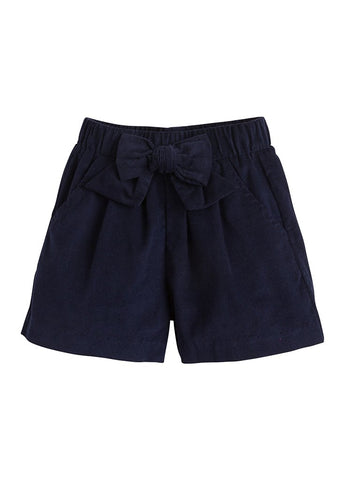 Bow Shorts in Navy - Noa & Vivi Kids Apparel