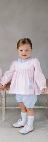 Applique Caroline Bloomer Set - Noa & Vivi Kids Apparel