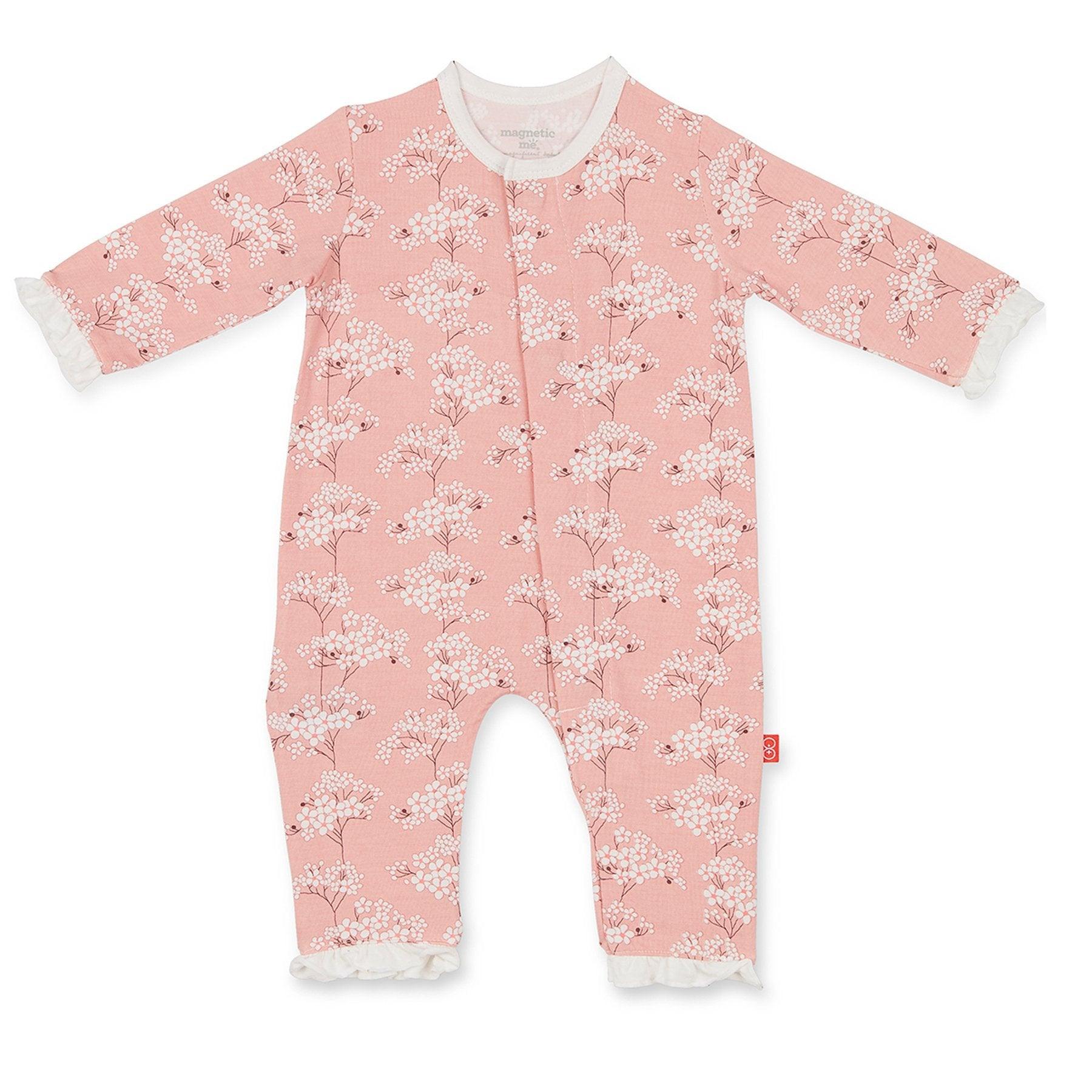 Magnetic Me Cherry Blossom Magnetic Overall - Noa & Vivi Kids Apparel