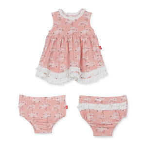 Cherry Blossom Modal Magnetic Dress/ Diaper Cover