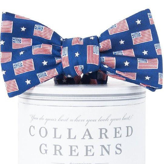 Old Glory Bow Tie|Size Medium (5-9Y) - Noa & Vivi Kids Apparel