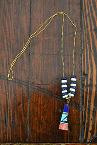 Wild Child Necklace in Navy and Mint with Indigo - Noa & Vivi Kids Apparel