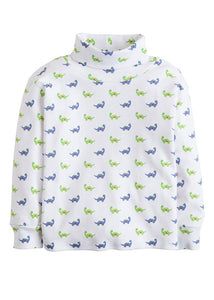 Dinosaur Printed Turtleneck