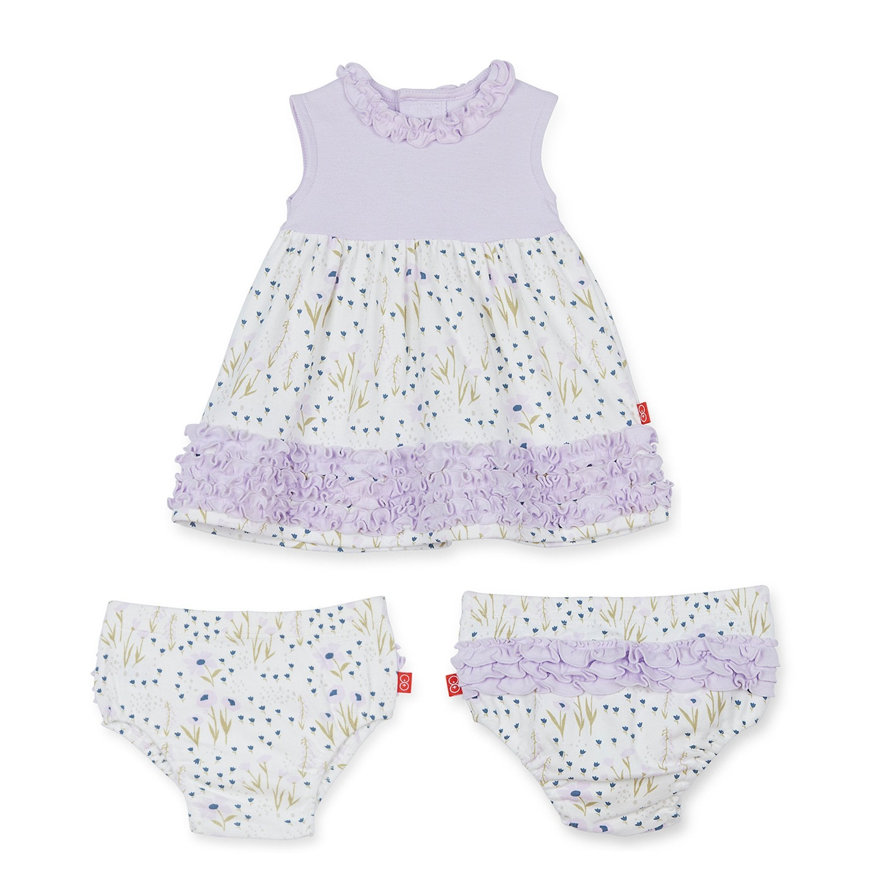 Fieldston Cotton Magnetic Dress & Diaper Cover Set - Noa & Vivi Kids Apparel