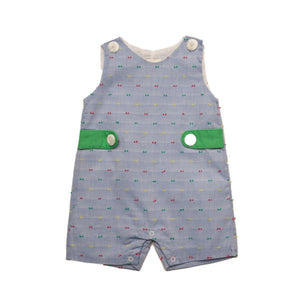 Oaks Apparel Corey Chambray with Green Jon Jon - Noa & Vivi Kids Apparel