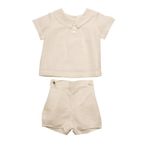 Oaks Apparel Joseph Cream Linen Suit - Noa & Vivi Kids Apparel