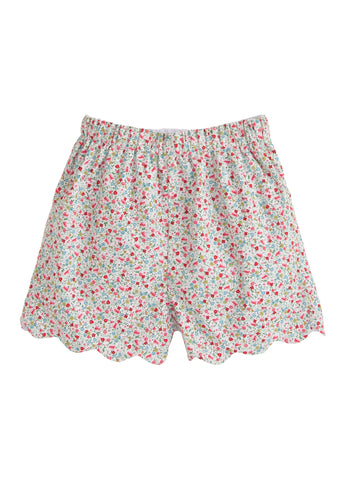 Scallop Short - Ditsy Floral - Noa & Vivi Kids Apparel