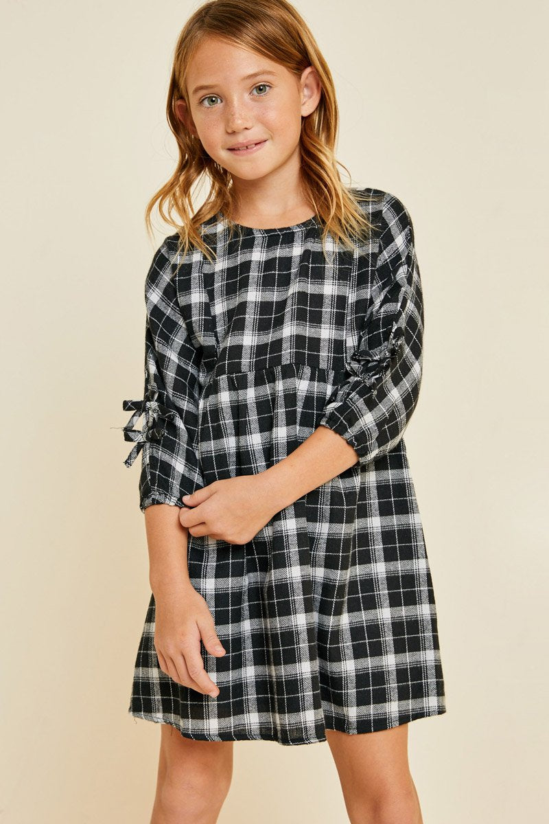 Plaid Hayden Dress - Noa & Vivi Kids Apparel