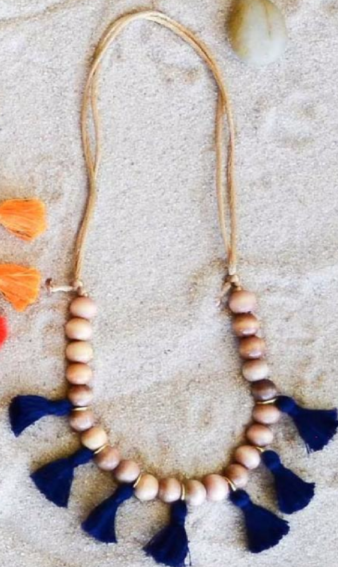Liana Necklace Navy - Noa & Vivi Kids Apparel