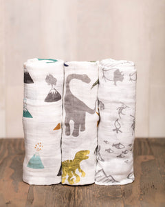 Dino Friends Swaddle Set - Noa & Vivi Kids Apparel