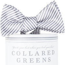 Wolf Grey Stripes Bow Tie - Noa & Vivi Kids Apparel