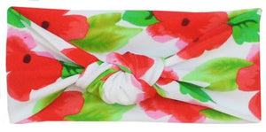 Headband Red Floral - Noa & Vivi Kids Apparel
