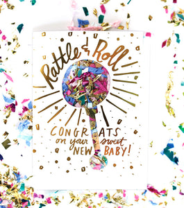Confetti Card Rattle & Roll - Noa & Vivi Kids Apparel