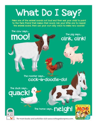Free Activity Sheet: Moo