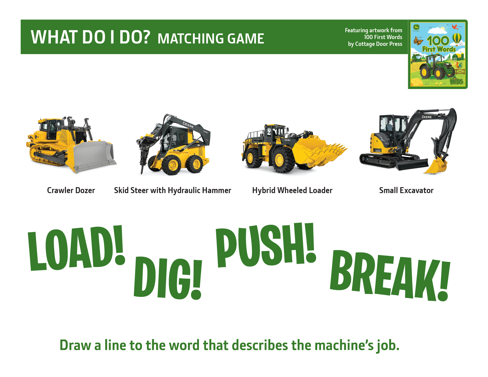 John Deere What Do I Do? Activity