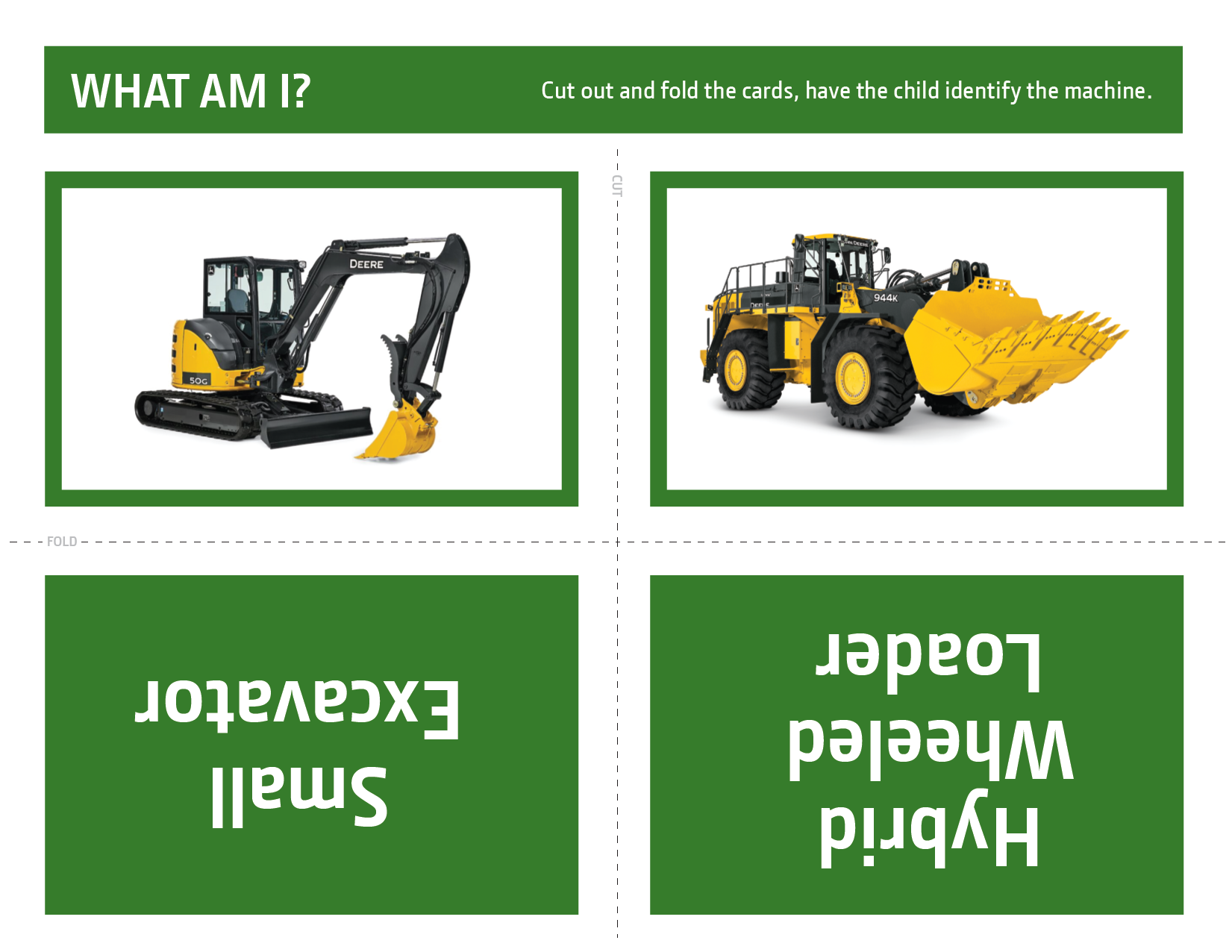 John Deere What Am I? Activity 1