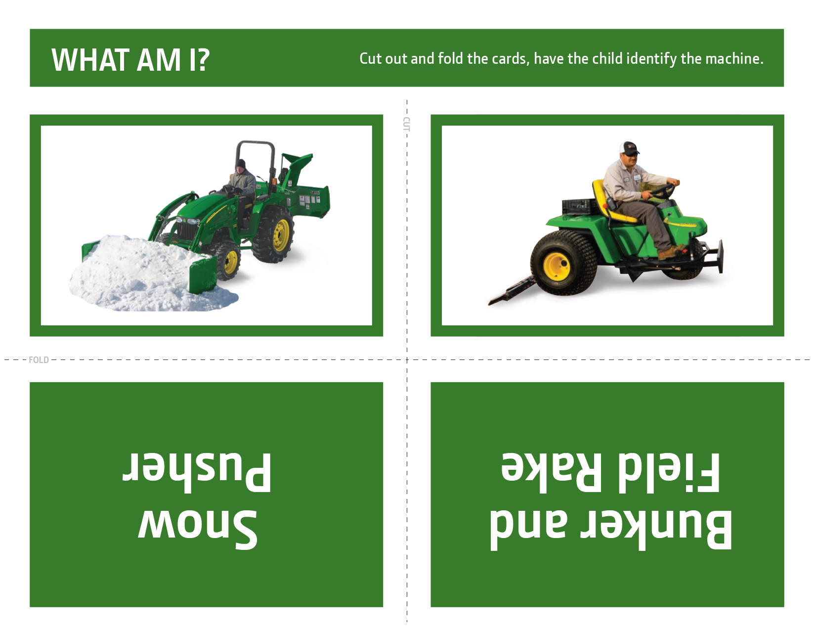 John Deere What Am I? Activity 3