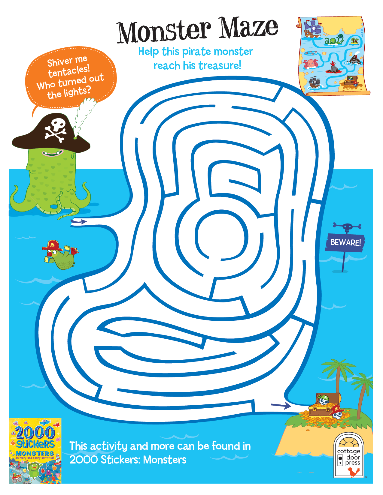 Halloween Activity Monster maze