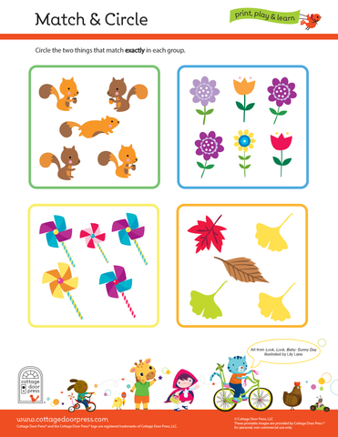 Free Matching Activity for Toddlers and Preschool