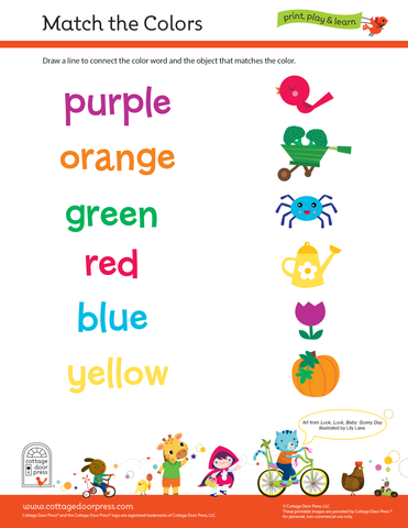Free Color Matching Activity for Toddlers and Preschool