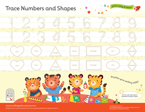 Free Number and Shape Tracing Activity for Toddlers and Preschool