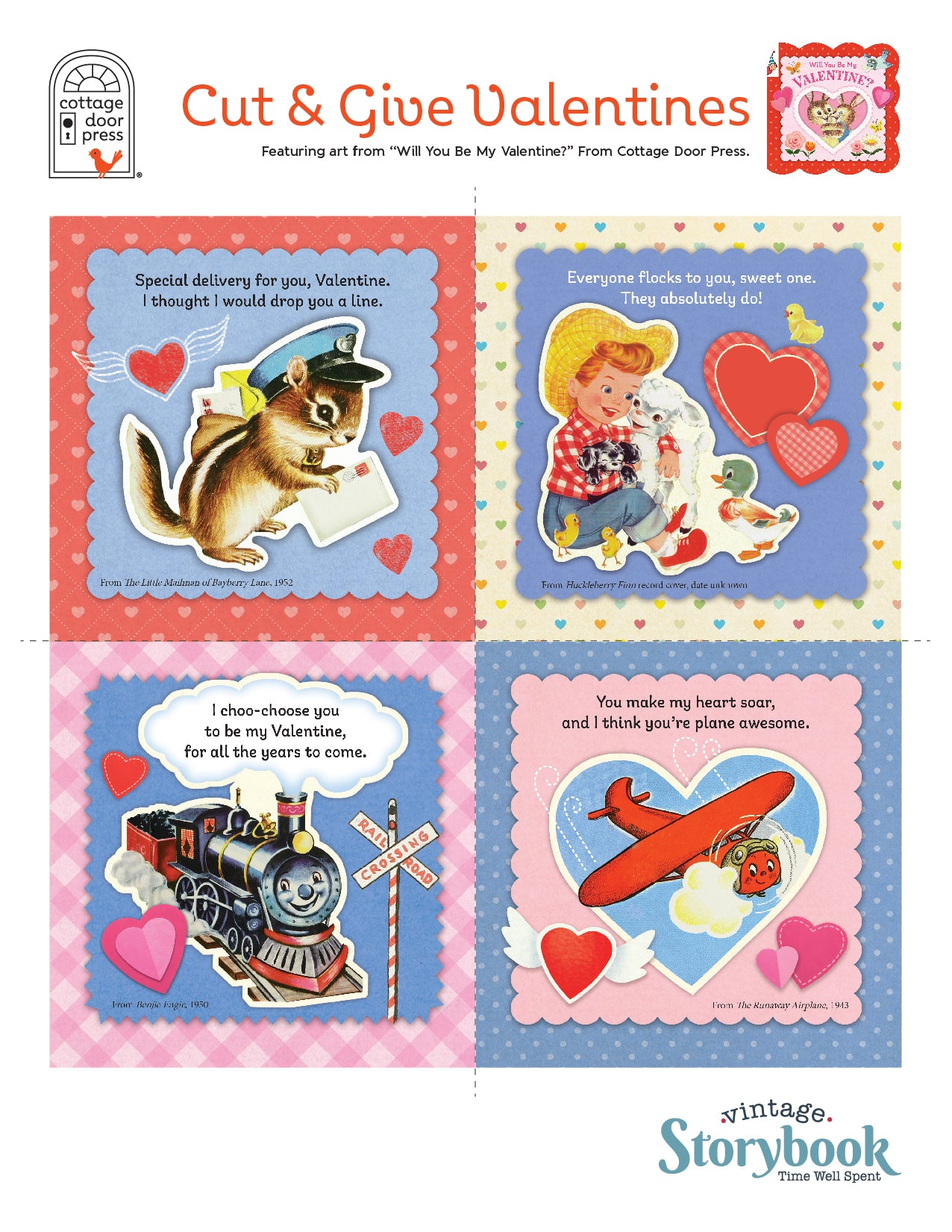 Cottage Door Press Cut and Give Valentines 3