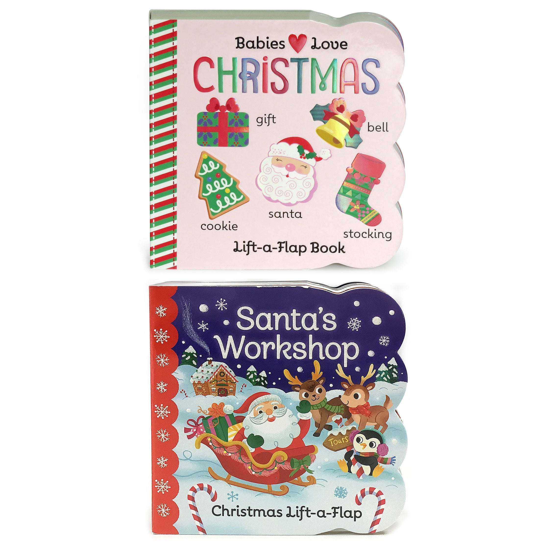 2 Pack Lift a Flap Board Books – Christmas and Santa s Workshop