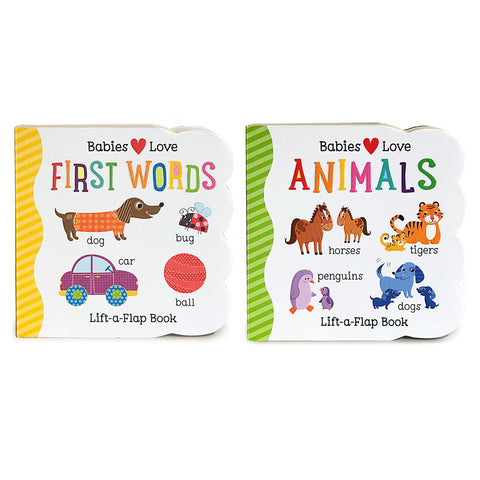 2 Pack - First Words & Animals Chunky Lift-a-Flap Books - Cottage Door Press