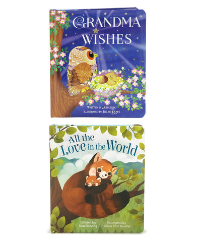 2 Pack - Grandma Wishes & All the Love in the World - Cottage Door Press